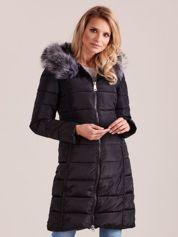 Czarna pikowana damska kurtka zimowa