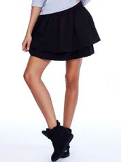 Czarna spódnica z warstwowymi falbanami