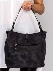 Czarna torba na ramię z odpinanym paskiem