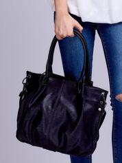Czarna torba worek z odpinanym paskiem