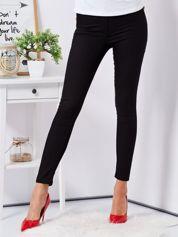 Czarne dopasowane spodnie high waist