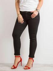 Czarne jeansy skinny PLUS SIZE