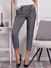 Czarne spodnie materiałowe w kratę