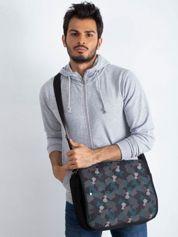 Czarno-szara męska torba