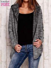 Czarny melanżowy sweter z kapturem