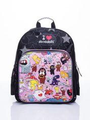 Czarny plecak szkolny DISNEY Dooodolls