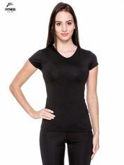 Czarny termoaktywny t-shirt sportowy typu basic ♦ Performance RUN