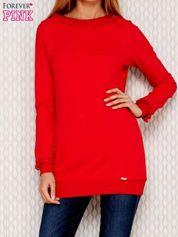 Czerwona bluza z koronką