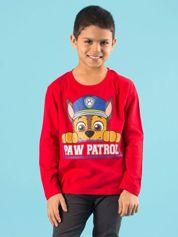 Czerwona bluzka dziecięca z nadrukiem PSI PATROL
