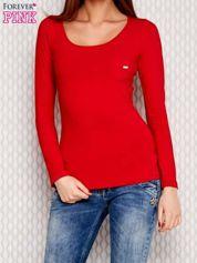 Czerwona bluzka z koronkowym tyłem