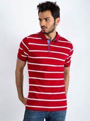 Czerwona męska koszulka polo Throwback