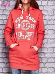 Czerwona ocieplana bluza z kapturem