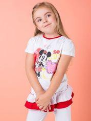 Czerwona tunika dla dziewczynki z motywem MINNIE MOUSE