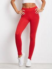 Czerwone legginsy Basic