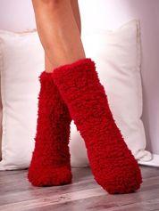 Czerwone skarpety zimowe