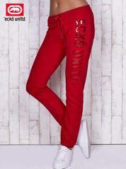 Czerwone spodnie dresowe z cekinami