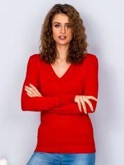 Czerwony sweter V-neck