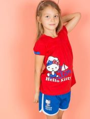 Czerwony t-shirt dla dziewczynki HELLO KITTY