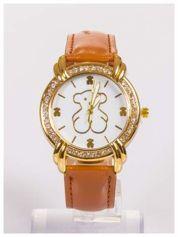 Damski zegarek z ozdobnymi misiami na tarczy