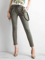 Damskie spodnie jeansowe khaki