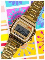 Delikatny damski zegarek na złotej bransolecie