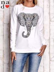 Ecru bluza z nadrukiem słonia