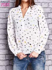 Ecru koszula w gwiazdki