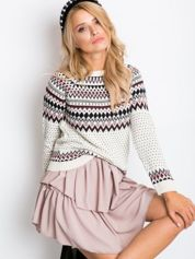 Ecru sweter Harmony