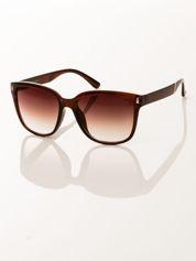 FASHION damskie okulary przeciwsłoneczne brązowe, szkło dymione brązowe