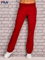FILA Czerwone gładkie spodnie dresowe