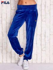 FILA Niebieskie welurowe spodnie dresowe