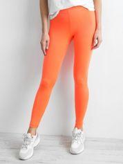 Fluo pomarańczowe legginsy damskie