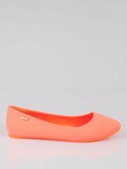 Forever Pink Fluopomarańczowe lekkie baleriny