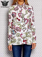 Fuksjowa koszula w kwiatowe wzory