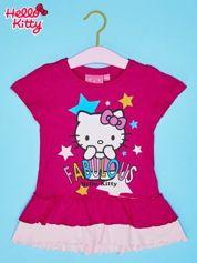 Fuksjowa tunika dla dziewczynki z motywem HELLO KITTY