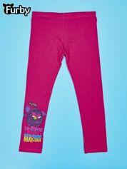 Fuksjowe legginsy dla dziewczynki nadruk FURBY