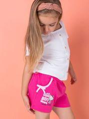 Fuksjowe szorty dla dziewczynki nadruk HELLO KITTY