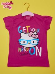 Fuksjowy t-shirt dla dziewczynki HELLO KITTY