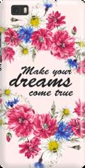 Funny Case ETUI HUAWEI P8 LITE DREAMS FLOWERS