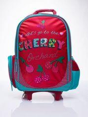 GRATIS!!! Czerwony plecak szkolny na kółkach walizka DISNEY w wisienki