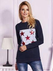 Granatowa bluza w gwiazdy