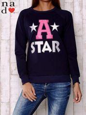 Granatowa bluza z napisem A STAR