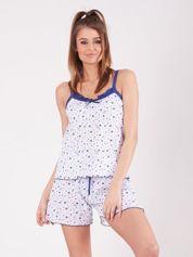 Granatowa piżama w gwiazdki