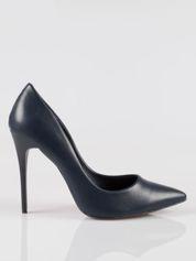 Granatowe szpilki high heels z noskiem w szpic Venus