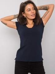 Granatowy t-shirt Square