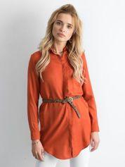 Jasnobrązowa długa koszula