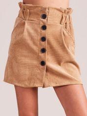 Jasnobrązowa sztruksowa spódnica