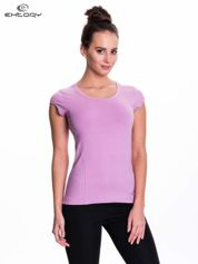 Jasnofioletowy damski t-shirt sportowy basic