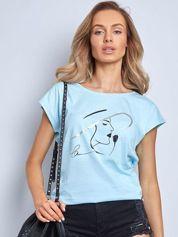 Jasnoniebieski t-shirt Bright