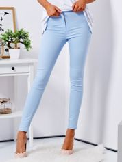 Jasnoniebieskie dopasowane spodnie high waist